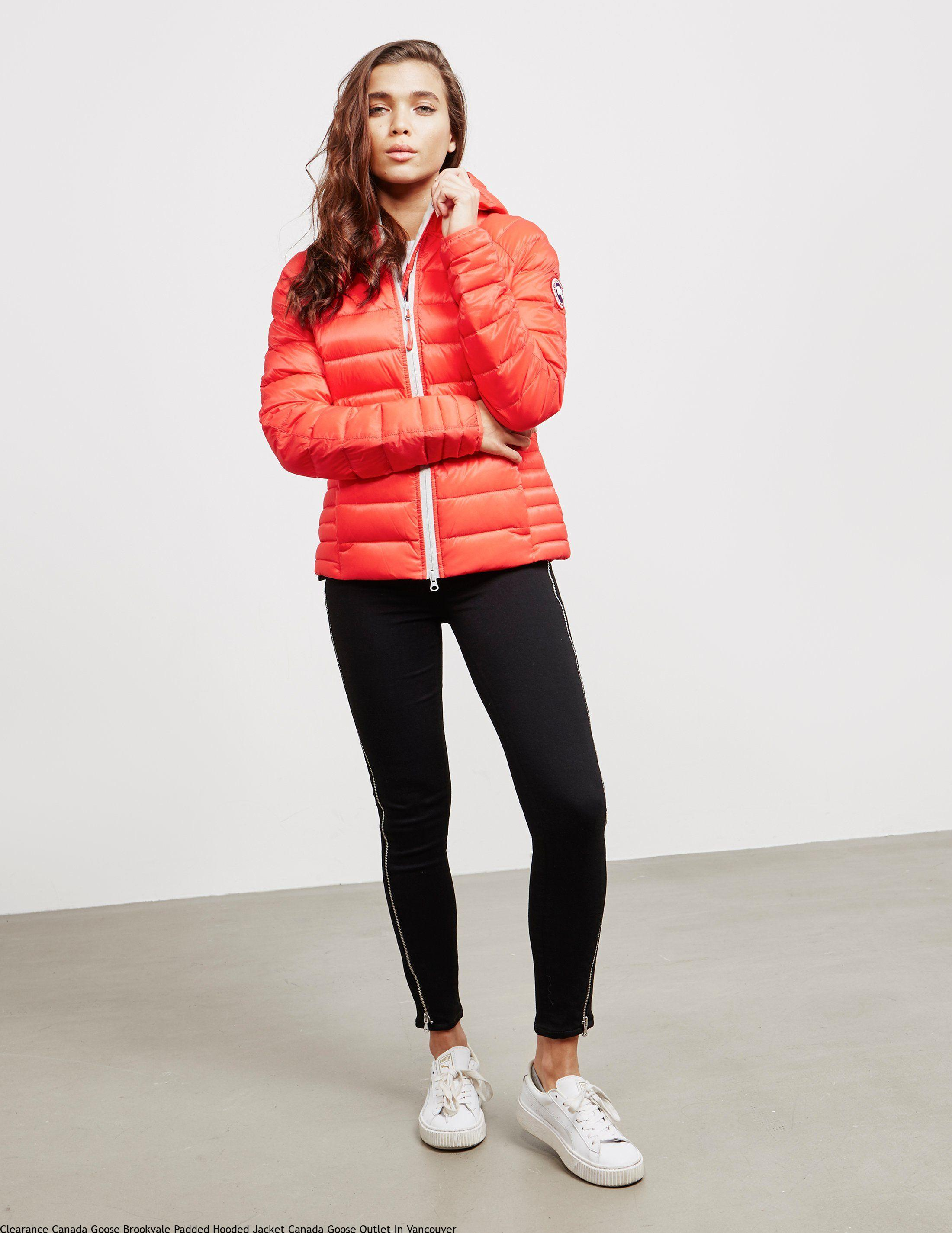 b182e14949f56 Clearance Canada Goose Brookvale Padded Hooded Jacket Canada Goose Outlet  In Vancouver