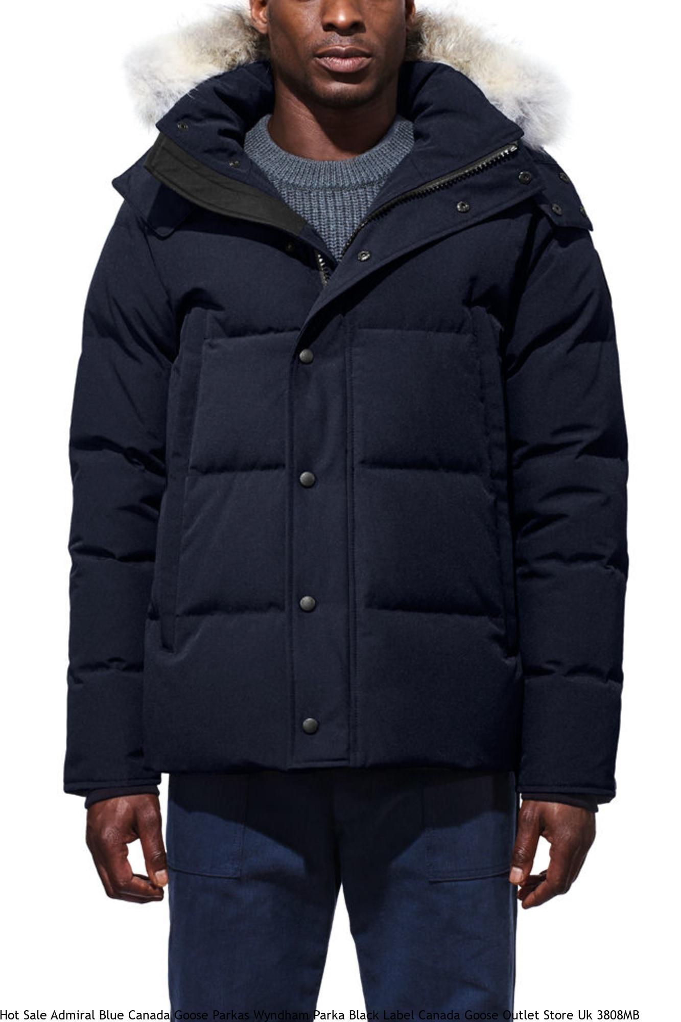 Hot Sale Admiral Blue Canada Goose Parkas Wyndham Parka Black Label Canada Goose Outlet Store Uk 3808MB