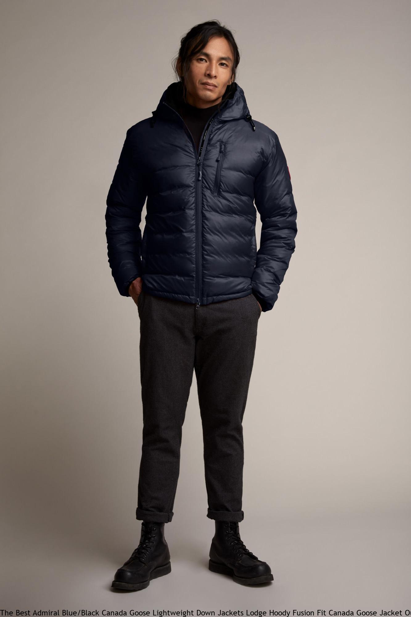The Best Admiral Blue Black Canada Goose Lightweight Down Jackets Lodge  Hoody Fusion Fit Canada Goose Jacket Outlet Uk 5055MA c966c4515